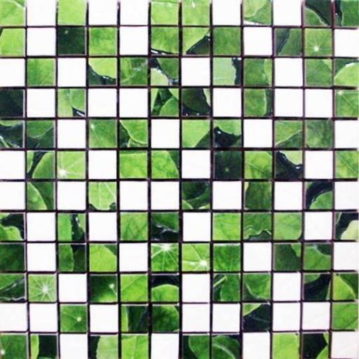 Lotus Mosaico Blanco-Verde
