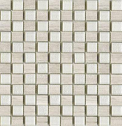 Mosaico Time Text Silver Wood